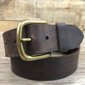 American Eagle brown gold distressed leather belt